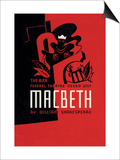 Macbeth: Wpa Federal Theater Negro Unit Posters by Anthony Velonis