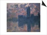 Parliament, Sunset, 1902 Art by Claude Monet