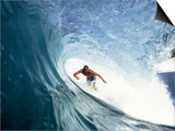 Surfing in the Tube Print by Sean Davey