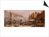 Market Day, Ashbourne, Near Derby Prints by John Brett