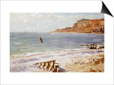 Seascape Sainte-Adresse Print by Claude Monet