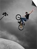 BMX Biker Performing Tricks Print