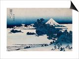 Shichirigahama in Suruga Province'- from the Series 'The Thirty Six Views of Mount Fuji' Print by Katsushika Hokusai