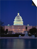 Illuminated Capitol at night, Washington D.C. Prints by Murat Taner
