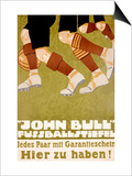 John Bull Fussballstiefel Poster