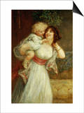 Mother's Darling Print by Frederick Morgan