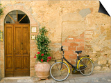 Bicycle Next to Flowers and Door Posters av Mark Bolton