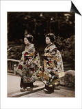 Japanese Costumes, 1880s Posters