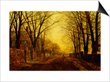 Nocturne in Gold, c.1872 Print by John Atkinson Grimshaw