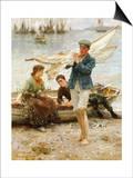 Return from Fishing, 1907 Posters by Henry Scott Tuke