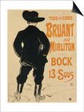 Aristide Bruant, 1893 Pósters por Henri de Toulouse-Lautrec