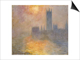 Parliament at Sunset, 1904 Prints by Claude Monet