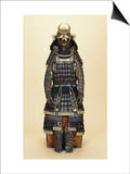 A Suit of Samurai Armour, the Kabuto Comprising a Fine Sixty-Two Plate Russet-Iron Sujibachi and… Posters