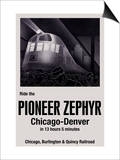 Ride the Pioneer Zephyr Prints by Paris Pierce