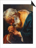 The Penitent Saint Peter Posters by Jacob Jordaens