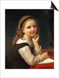 A Good Book, 1868 Print by William Adolphe Bouguereau