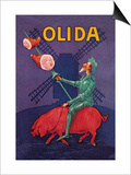 Don Quixote Riding a Pig Posters