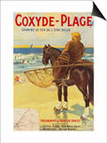 Coxyde-Beach; Coxyde-Plage Prints by Matteoda Angelo Rossotti