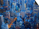 Midtown Manhattan at Dusk Print by José Fuste Raga