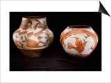 Two Zia Polychrome Jars Prints