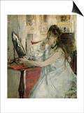 Young Woman Powdering her Face Art by Berthe Morisot