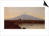 Sunset at Catania, Sicily Posters by Sanford Robinson Gifford