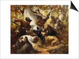 The Wild Boar Hunt Prints by Ferdinand Wagner