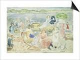 A Day at the Beach Prints by Maurice Brazil Prendergast