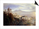 The Bay of Naples Print by Oswald Achenbach
