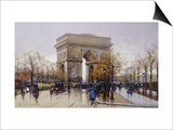 L'Arc de Triomphe, Paris Prints by Eugene Galien-Laloue