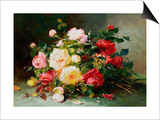 A Bouquet of Roses Posters by Eugene Henri Cauchois