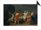 The Death of Socrates Print by Jacques-Louis David