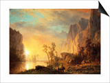 Sunset in the Rockies Posters by Sir William Beechey