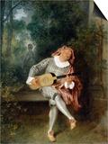 Mezzetin Plakater af Jean-Antoine Watteau