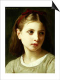 Une Petite Fille, 1886 Prints by William Adolphe Bouguereau