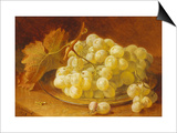 Grapes on a Silver Plate, 1893 Prints by Eloise Harriet Stannard