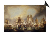 The Battle of Trafalgar Art by (after) William Clarkson Stanfield