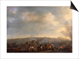 The Battle of Waterloo; the Rout of the French Prints by Pierre Jean Hellemans