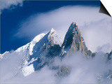 France, Alps, Mont Blanc Massif, Aiguille Verte, peak in clouds Poster by Frank Lukasseck