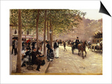 A Paris Street Prints by Jean Béraud