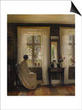 A Lady in an Interior Art by Carl Holsoe