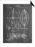 Steampunk Aerial Vessel 1893 Patent Posters