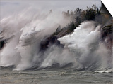 Fierce Lake Superior waves pound Minnesota's north shore Prints by Layne Kennedy