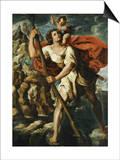 Der Heilige Christophorus Pósters por Orazio Borgianni