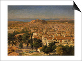 An Extensive View of Athens with the Acropolis, Greek School Prints