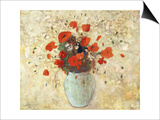 Vase of Poppies Prints by Odilon Redon