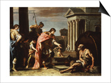 Alexander and Diogenes Plakater af Sebastiano Ricci