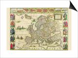 Europe Prints by Willem Janszoon Blaeu