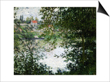 Ile de la Grande Jatte, Through the Trees, 1878 Prints by Claude Monet