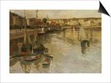 Dieppe Print by Fritz Thaulow